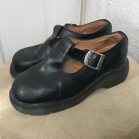 1f509b8146275 Vintage Dr Martens Mary Jane T-Strap Platform Shoe